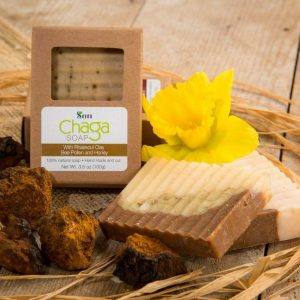 Chaga soap with Rhassoul clay, Bee Pollen and Honey