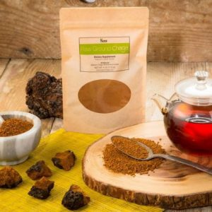 raw chaga powder