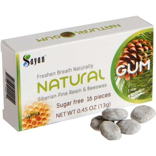 Pine box and gum